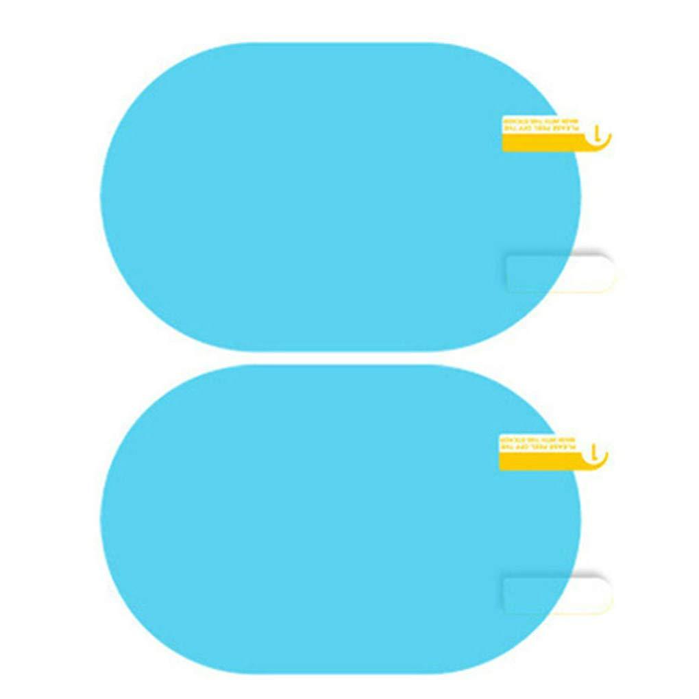 Topker 1 Par hidrof/óbica de la pel/ícula a Prueba de Lluvia Espejo retrovisor de conducci/ón Segura Pegatinas Impermeable Resistente al Rayado del Espejo de Coche de la pel/ícula