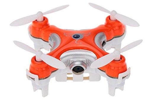 Cheerson CX-10C Mini 2.4G 4CH 6 Axis Nano RC Quadcopter with Camera -Orange ()