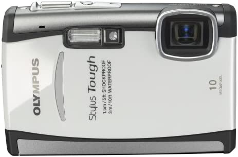 Olympus Stylus 6000 10MP Digital Camera with 3.6x Wide Angle Optical Dual Image Stabilized Zoom and 2.7-inch LCD White