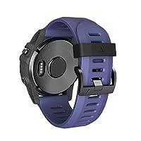 KFSO Watchband For Garmin Fenix 5X Plus,Easy Fit 26mm Width Soft Silicone Watch Strap,220MM