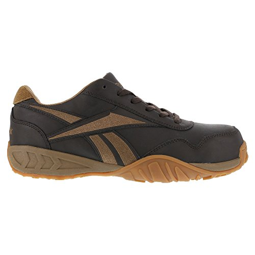 Reebok Womens Brown Leather Athletic Oxford Bema Composit...