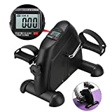 Belovedkai Arm and Leg Pedal Exerciser with LCD Display Mini Exercise Bike Indoor Fitness Cycling Resistance Adjustable...