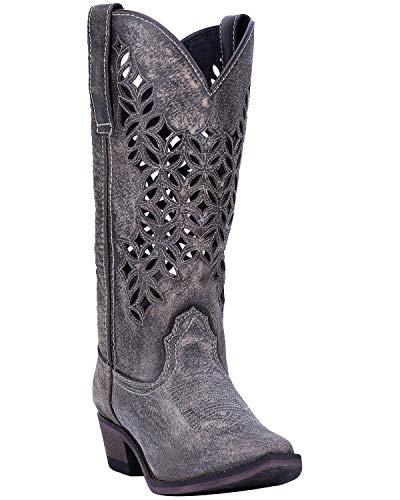 (Laredo Women's Chopped Out Western Boot Snip Toe Grey 8.5 M)