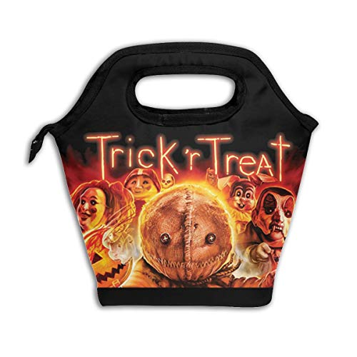 Eppedtul Trick 'r Treat Lunch Tote, Yookeehome Thick Reusable Insulated Thermal Lunch Bag Small Lunch Box Handbags Tote with Zipper for Adults Kids Nurse Teacher Work Outdoor Travel Picnic