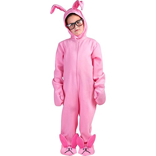 Childs Christmas Pink Rabbit PJ's Costume (Small 7-10)]()