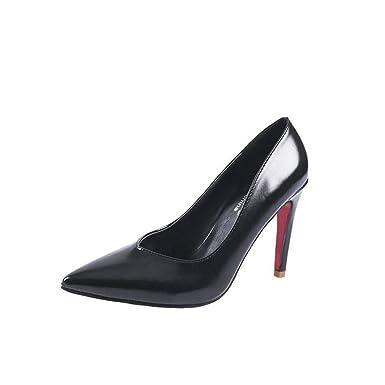 10b03175b8f Fashion Red Bottom Pumps Women Shoes Thin High Heels 10Cm Elegant Ladies  Black Brown BLACK 4
