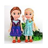 Texasstore 2pcs/lot Bonecas 16cm Elsa Doll Girls Toys Fever 2 Princess Anna and Elsa Dolls Clothes for Dolls Birthday Gift