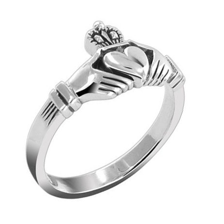 Sterling Silver Celtic Classic Claddagh Ring Size 10