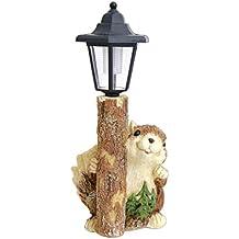"""MayRich 15"""" Squirrel Solar Light Garden Statue"""