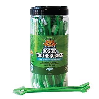 New Dual Ended Long Dog & Cat Toothbrush   Pet Safe Super Soft Bristles for Pet Dental & Oral Care Teeth & Gums   Bulk Container 50 Pack