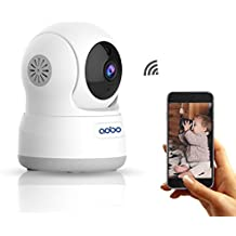 WiFi Camera AOBO 720P Wireless IP Security Camera for Home Pan Tilt Indoor Nanny Cam Dog Pet cams Two Way Audio with Night Vision Room Webcam Surveillance Cameras System