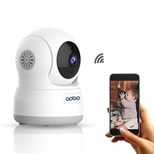 WiFi Camera AOBO 720P Wireless IP Security Camera for Home Pan Tilt Indoor Nanny Cam Dog Pet cams Two Way Audio with Night Vision Room Webcam Surveillance Cameras (Video Cam Interface)