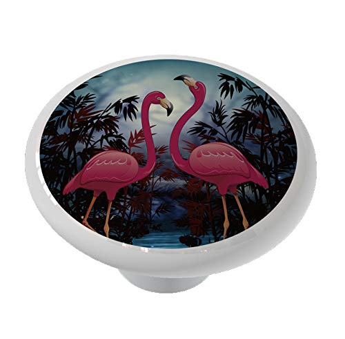 Moonlit Flamingos Drawer/Cabinet Knob by Gotham Decor