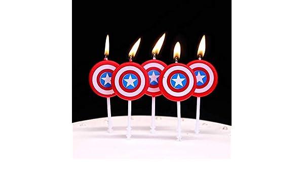 Astra Gourmet America Caption Hero Velas de cumpleaños para ...