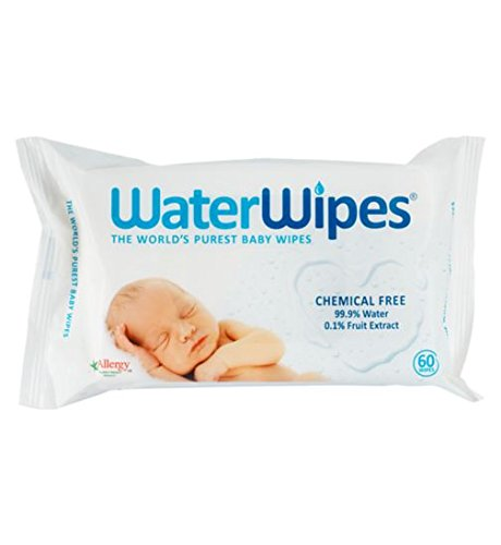 WaterWipes Baby Wipes, 60 Count (Pack of 2) by DermaH2O