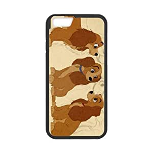 iPhone 6 Plus 5.5 Inch Cell Phone Case Covers Black Lady and the Tramp II Scamp's Adventure Character Annette