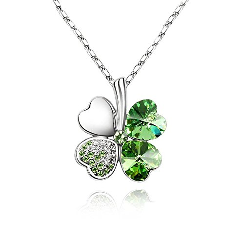 Four Leaf Clover Necklace - Green St.Patrick's Day Jewelry - Mall of - Patrick Mall