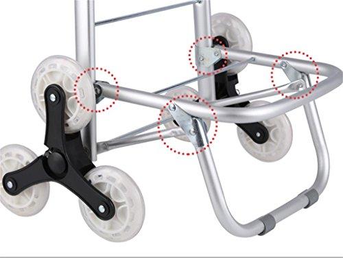 D&F Plegable subir las escaleras Carro de compras con 3 ruedas, aleación de aluminio multifunción Carros para supermercado compras, red: Amazon.es: Deportes ...