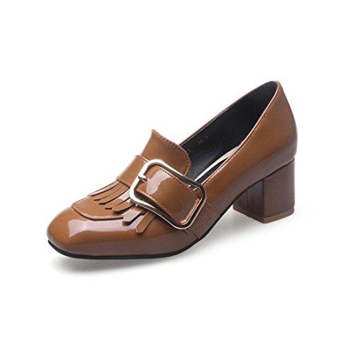 Sandalette-DEDE Calzado de Señora, Zapatos de Mujer de Tacón Alto yellowA