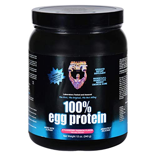 2 Pack of Healthy N Fit 100 Percent Egg Protein – Strawberry Passion Flavor – 12 oz- Delicious – No Artificial Flavors
