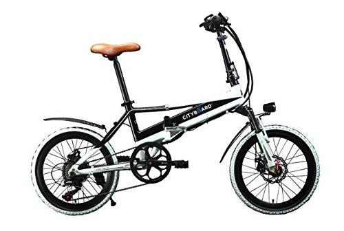 Cityboard Citybike Tourneo Bicicleta Eléctrica Plegable 20', Adultos Unisex, Negro