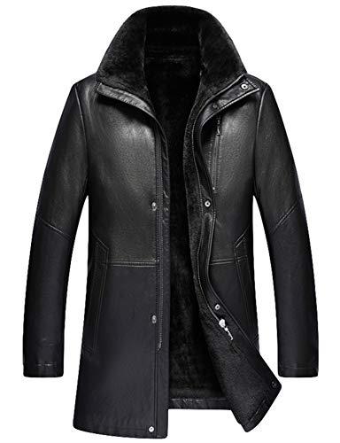 ther Jacket Winter Coat Warm Lamb Wool Lining (S, Black) ()