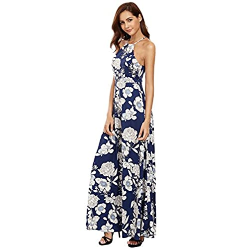 Cheap Finishline Blue Retro Print Maxi Dress - 10 / BLUE I Saw It First Pay With Visa mro6m2
