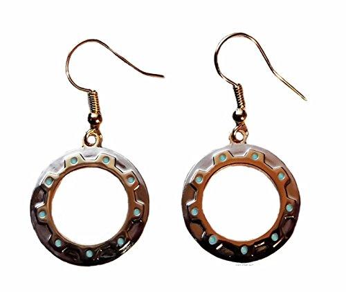 Xena Warrior Princess Chakram Dangle Metal Gold Color Dangle Earrings 1 Pair