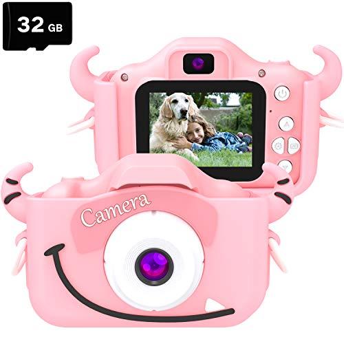 goopow Kids Children Camera, Child Digital Video Mini Camera for Girls with -