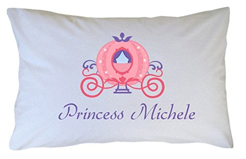 Personalized Princess Carriage Pillowcase - Great Gift