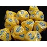 Chessex Dice Sets Frosted Teal with White 10 Ten Sided Die d10 Set