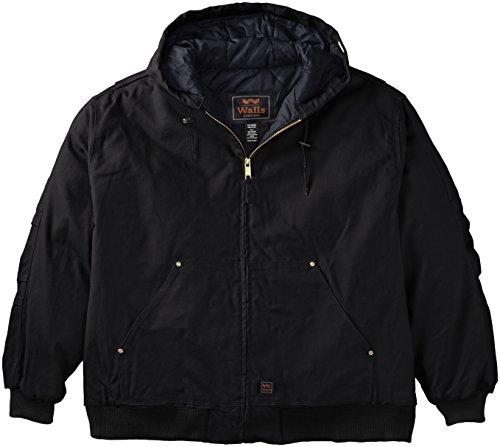 Walls Men's Big Zero-Zone Waco Insulated Muscle Back Jacket, Midnight Black, 4X-Large