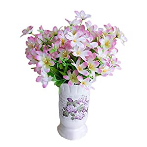 MARJON FlowersArtificial Flowers, Fake Flowers Plastic 6 Branches/1Pc Narcissus Bouquets Gifts Wedding Party Kitchen Home Decor 55