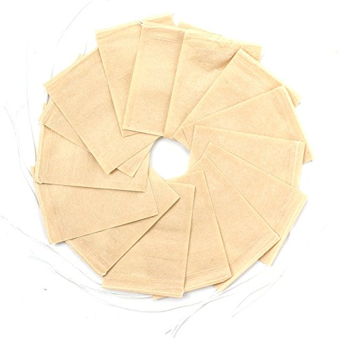 300PCS Tea Filter Bags Disposable Paper Tea Infuser with Drawstring for Loose Leaf Tea and Coffee with Natural Unbleached Paper (Small Size) ()