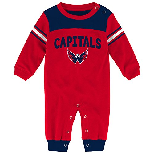 "NHL Washington Capitals Children Boys ""Penalty Box Kid"" Long sleeve Coverall, 0-3 Months, Red"