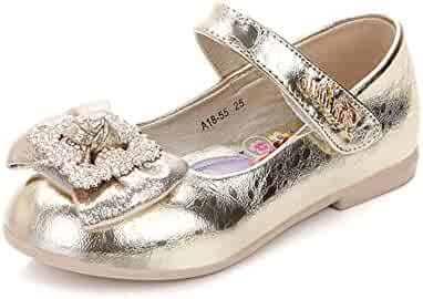 Toddler Girl Princess Dress Wedding Party Shoes Glitter Bridesmaids Low  Heels Mary Jane Shoes 00d69f458cc5