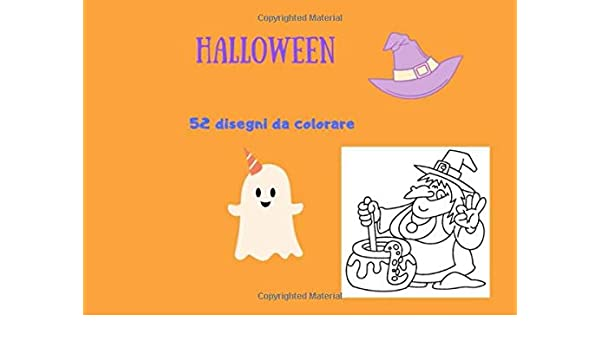 Disegni Colorare Halloween.Halloween 52 Disegni Da Colorare Italian Edition Art Lab Barensoner 9781701873575 Amazon Com Books
