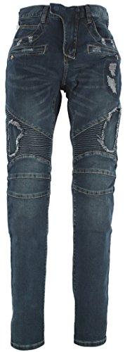 Alex Rogan Men's A797 Biker Denim Jeans 46 - Rogan Men Jeans