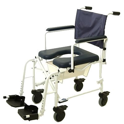 Invacare 6891 MarinerTM Rehab Shower Commode Wheelchair, Seat Size: 18.25'' W x 18.25'' D, Wheel Type: 5'' Locking Casters
