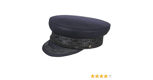 Gorra Prince Henry azul o gris de Lierys, una tradicional gorra de capitán de paño en las tallas 54-62 cm, gorra clásica con cordel fijado mediante botones ...