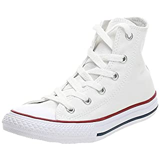 Converse Kids' Chuck Taylor All Star Canvas High Top Sneaker, Optical White, 3 M US