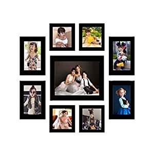 Wood Photo Frame (Black, 9 Photos)