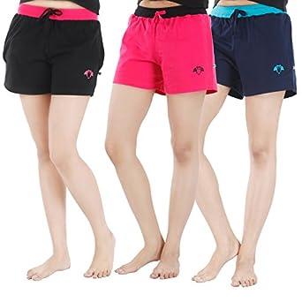NITE FLITE Women Running Shorts (Pack of 3)