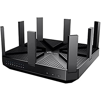 TP-Link AC5400 Wireless Wi-Fi MU-MIMO Tri-Band Router – Powerful Wi–Fi for Gaming and 4K Streaming, Comprehensive Antivirus and Security, Works with Alexa and IFTTT (Archer C5400)