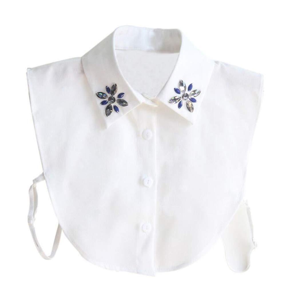 GAOXUQIANG Camisa de Moda Collar Falso para Mujer Corbata Costura ...