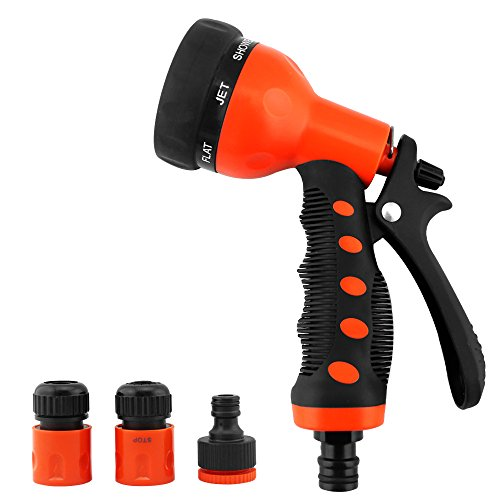Fits 1 2 Garden Hose Nozzle Sprayer Set 7 Different Spray Settings Heavy Duty Sprinklers