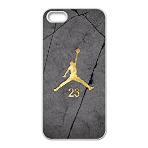 iPhone 5 5s Cell Phone Case White Jordan logo Vukf