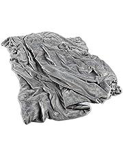 Gewichtsdeken, therapiedeken, zware deken voor kinderen en volwassenen, ideaal tegen slaapstoornissen en stress, Öko-Tex 100 getest met afneembare overtrek, premium vulling met glaskralen   grijs
