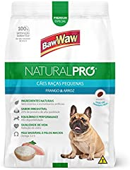 Ração Baw Waw Natural Pro para cães raças pequenas sabor Frango e Arroz - 10,1kg