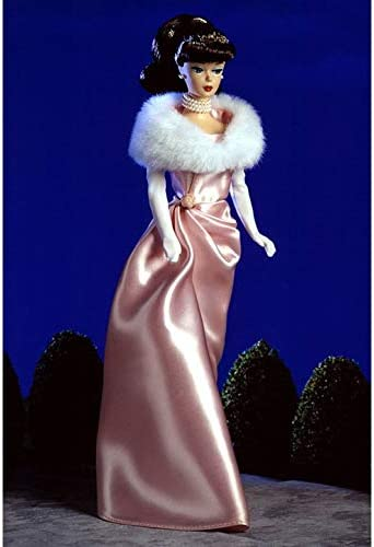 Vintage BARBIE #983 ENCHANTED EVENING FAUX FUR WHITE STOLE ONLY 1960 REPRO 1996